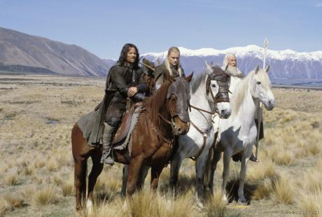 FOTO: Aragorn, Legolas, Gandalf Dvě veže