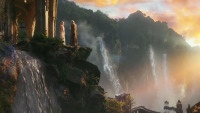 FOTO: THE HOBBIT Trailer HD - YouTube Gandalf Galadriel