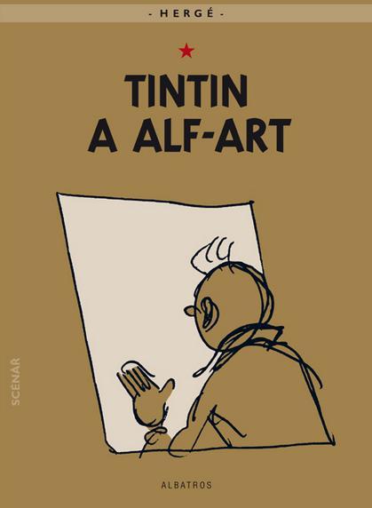 Tintin a alf-art Hergé (obálka knihy)