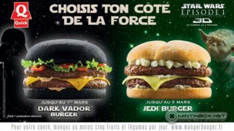 FOTO: Darth Vader Burger a Jedi Burger ve francouzských fast foodech