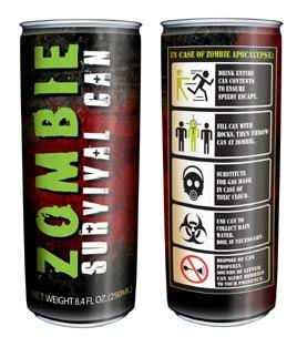 FOTO: Energetický nápoj Zombie Survival Can