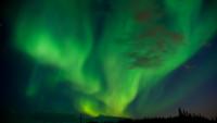 FOTO: Arktická záře je během polární noci jediným světlem