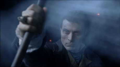 Adam (Rufus Sewell), the chief of the vampires