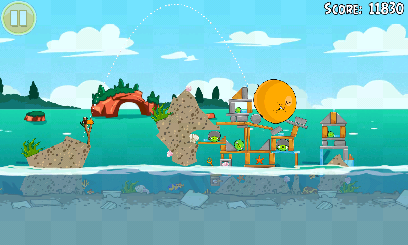 Screenshot: Angry Birds