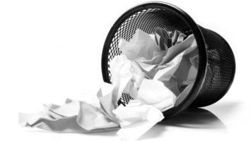 Zmačkaný papír , jak napsat povídku