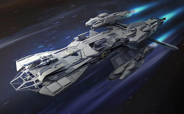 FOTO: Vesmírná loď ze hry Star Citizen