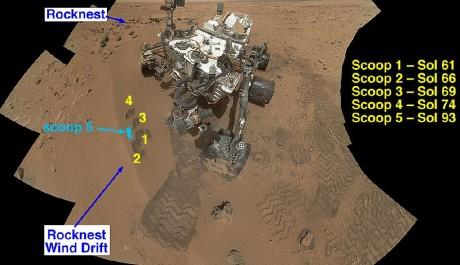 FOTO: Mars rover Curiosity - bližší informace o sebrání vzorků