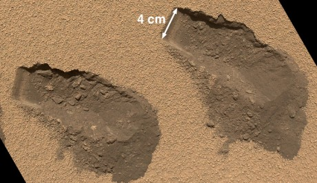 FOTO: Místa sebrání vzorků přístrojem Curiosity