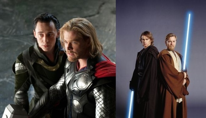 FOTO: Loki, Thor, Anakin Skywalker a Obi-Wan Kenobi