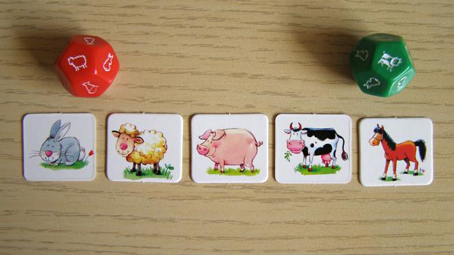 Cílem hry je mít na statku všech pět druhů zvířat