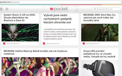Takhle vypadá náhled článků v prohlížeči. Zdroj: vlastní