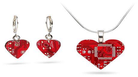 FOTO: Valentýnské srdce - Náhrdelník a náušnice
