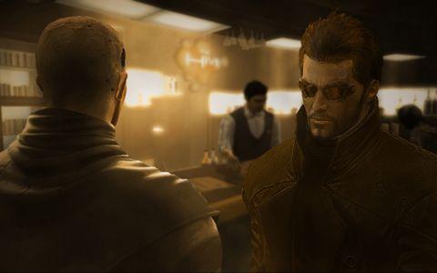 Deus Ex má kvalitně vyvedenou kyberpunkovou atmosféru, která se ve filmu bude vyjímat. Zdroj: Oficiální stránky hry