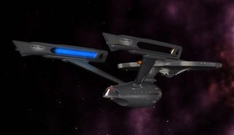 Vlečné paprsky měla třeba Enterprise ze Star Treku. Zdroj: reprofoto YouTube.com, mylex68