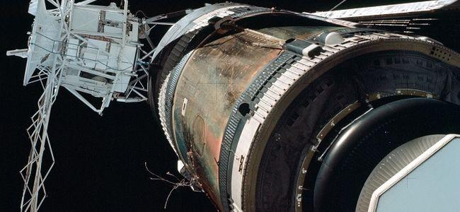 Kosmická stanice Skylab, která se významně podílela na pozorování komety Kohoutek. Foto: NASA