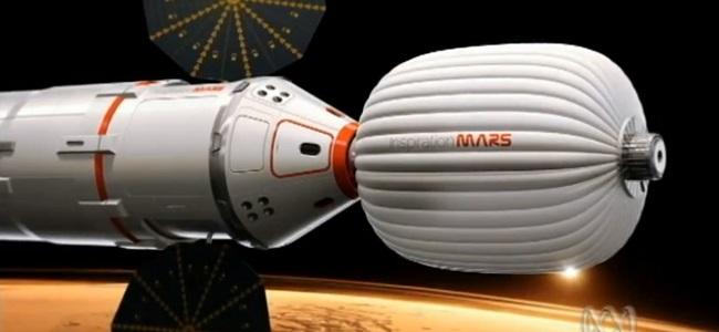 FOTO: Koncept vesmírné mise k Marsu