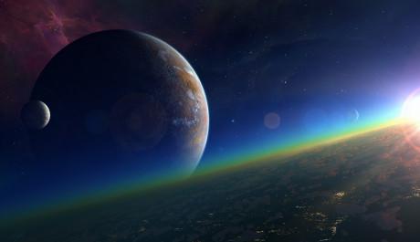 Umělecká představa exoplanety.
