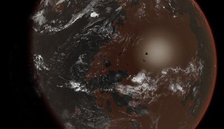 Planeta s životem založeným na amoniaku. Zdroj: Wikipedia.org