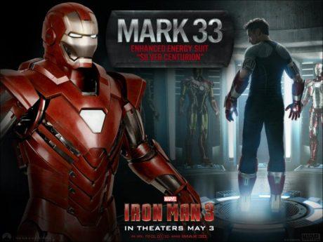 Červený Mark 33 připraven k použití. Zdroj: Marvel