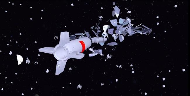 FOTO: Animace sestřelení čínského satelitu
