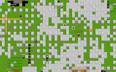 Grafika stylově odkazuje na originálního Bombermana. Zdroj: reprofoto bombermine.com