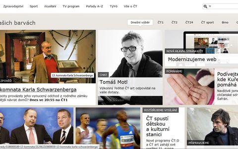 Web obsahuje velké obrázky usnadňující pohyb po stránce. Zdroj: reprofoto ceskatelevize.cz