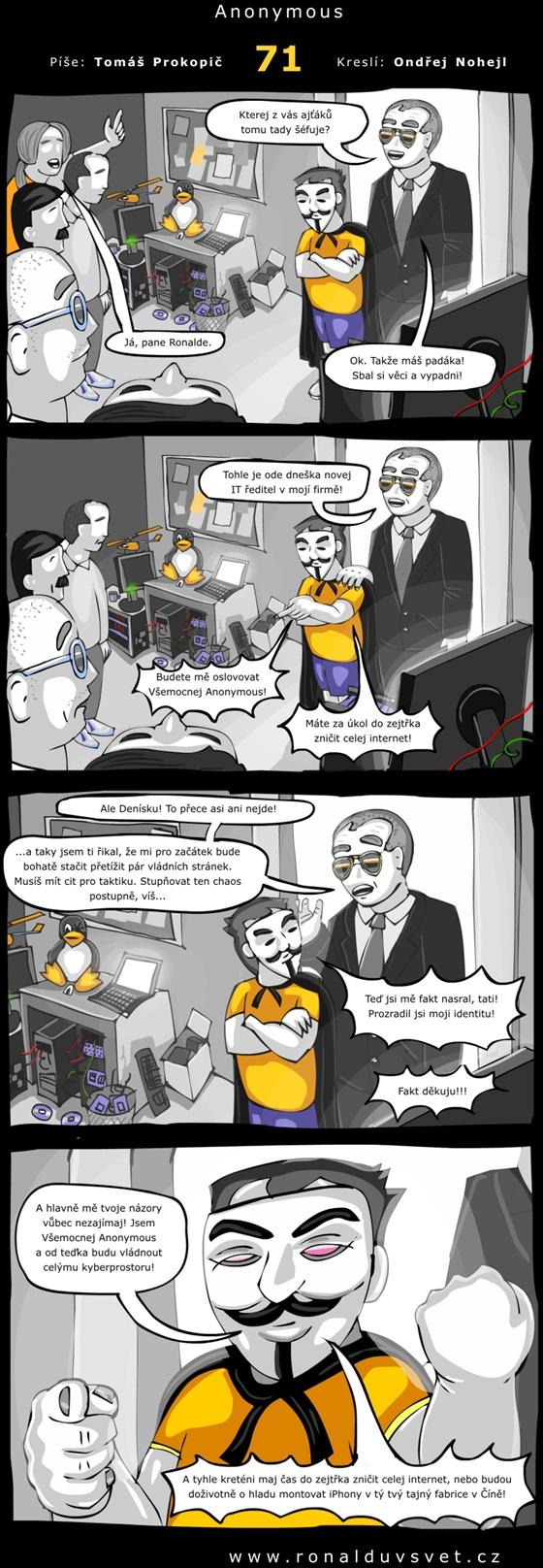OBR: Ronaldův svět 71: Anonymous