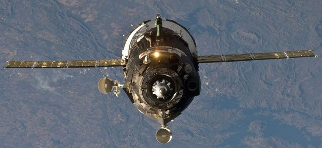 Sojuz na oběžné dráze Země. Zdroj: NASA