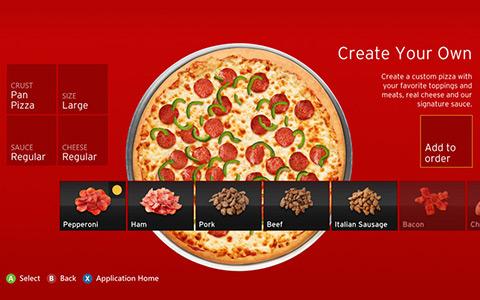 Aplikace umožňuje sestavit si pizzu podle chuti. Zdroj: reprofoto youtube.com