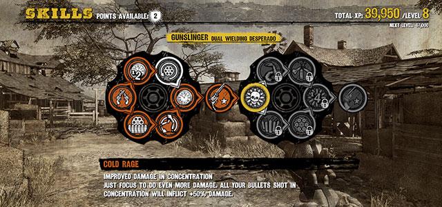 Rozvíjení určitých schopností umožňuje přistup k pokročilejším zbraním z dané třídy. Zdroj: Vlastní