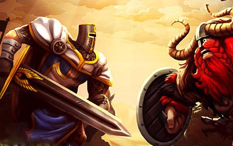 V CasteStorm se hráči musí ubránit nájezdům krvelačných vikingů. Zdroj: oficiální stránky hry
