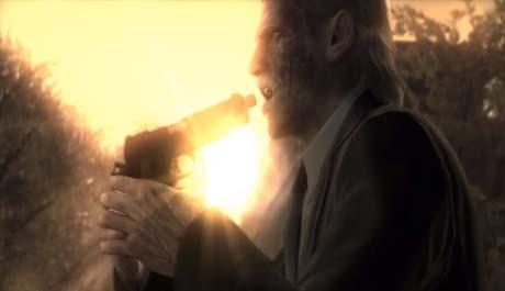 Solid Snake na konci nejposlednějšího MGS dílu, Guns of the Patriots. Zdroj: youtube.com