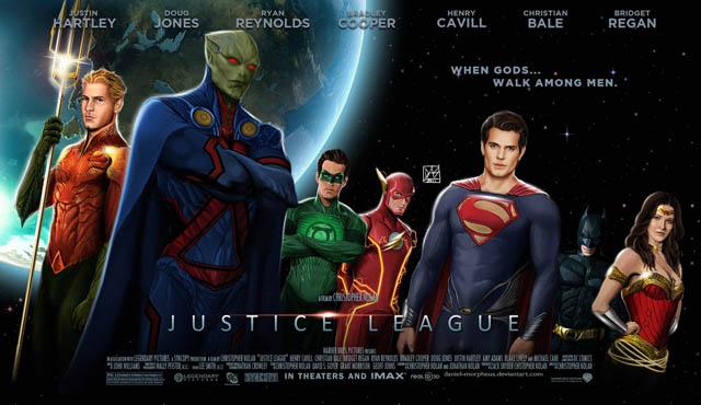 Fanouškovský plakát k filmu Liga spravedlivých. Zdroj: http://daniel-morpheus.deviantart.com/