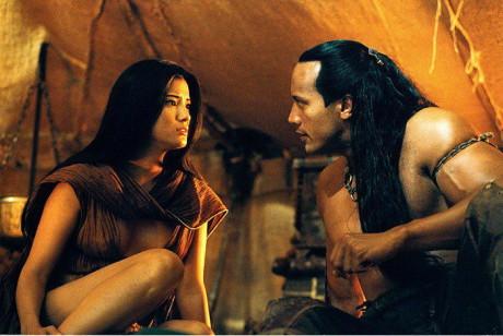 Mýtickou postavu Krále Škorpiona si zahrál svalovec The Rock. Zdroj: Bonton