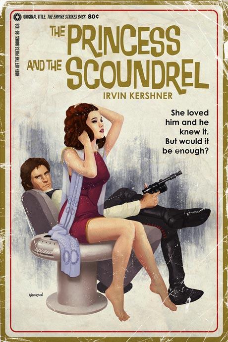 Původně to vypadalo skoro jako, když Han kouká Leie na zadek. Zdroj: timothyandersonart.com