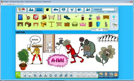 Aplikace Toon Doo je stvořena pro pokročilé uživatele, kteří si s komiksem rádi hrají.