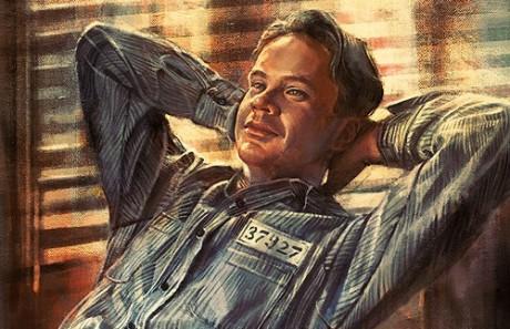 Vykoupení z věznice Shawshank na malířském plátně. Zdroj: alicexz.com