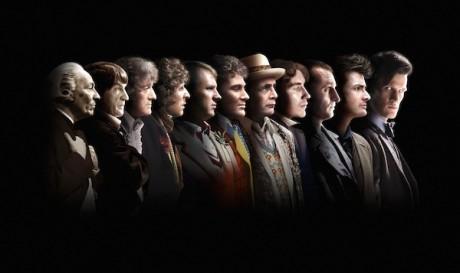 Jedenáct Doctorů v jedné řadě. Chtěli byste je vidět všechny v jednom díle? Zdroj: BBC
