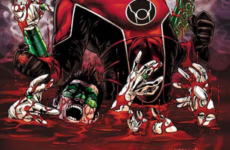 Vzkříšení nebo záhuba? Red a Green Lantern v bolestné křeči. Zdroj: DC Comics
