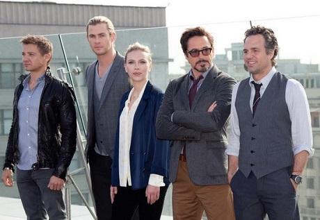 Téměř celá plejáda herců, kteří se objeví v Age of Ultron na straně dobra. Zdroj: Marvel