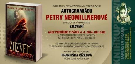 Tento pátek se v Praze koná autogramiáda Petry Neomillnerové i křest románu Zjizvení.