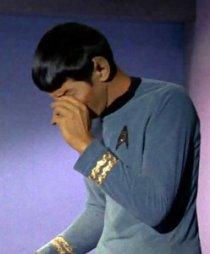ilustrační foto - smutný spock