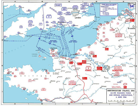 Kovář a Vega si užili invazi v Normandii plnými doušky. Zdroj: www.cs.wikipedia.org.