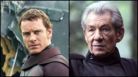 FOTO. Michael Fassbender a Ian McKellen jako Magneto