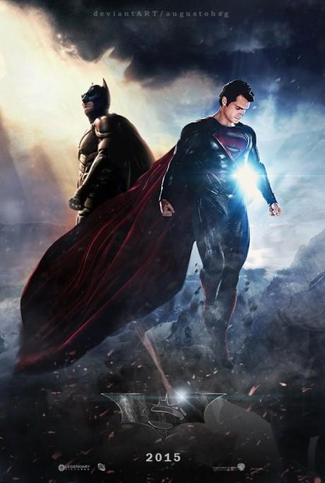 K fanouškovským trailerům by neměl chybět ani fanouškovský plakát. Zdroj: http://www.deviantart.com/art/Man-of-Steel-vs-The-Dark-Knight-391791663