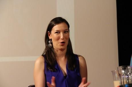 Jennifer Spence ukázala, že i ona umí pobavit své publikum. Zdroj: Festival fantazie Roman Kresta
