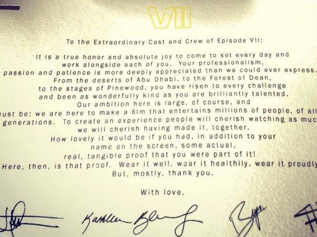 FOTO: Star Wars vzkaz