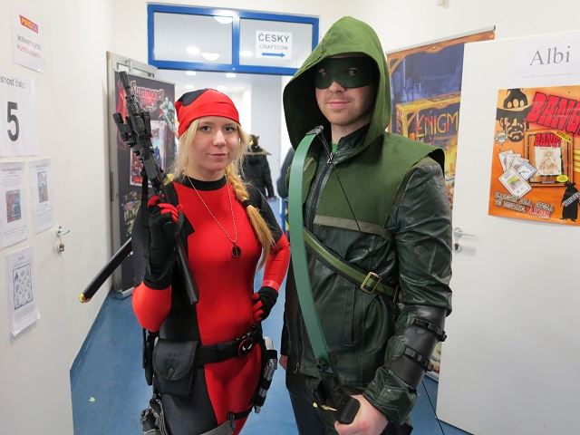 Arrow a Deathpool na PragoFFestu 2015. Foto: Jan Neuman