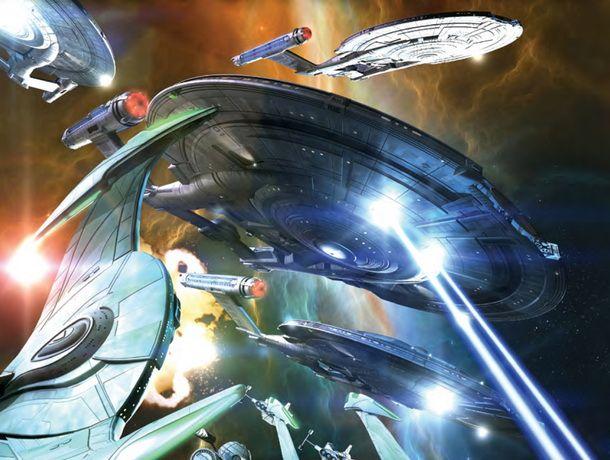 Star Trek Enterprise. Zdroj: výřez knižní obálky.