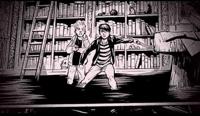 Souboj s démonem v knihovně, to bude jen rozcvička. Zdroj: ilustrace z knihy